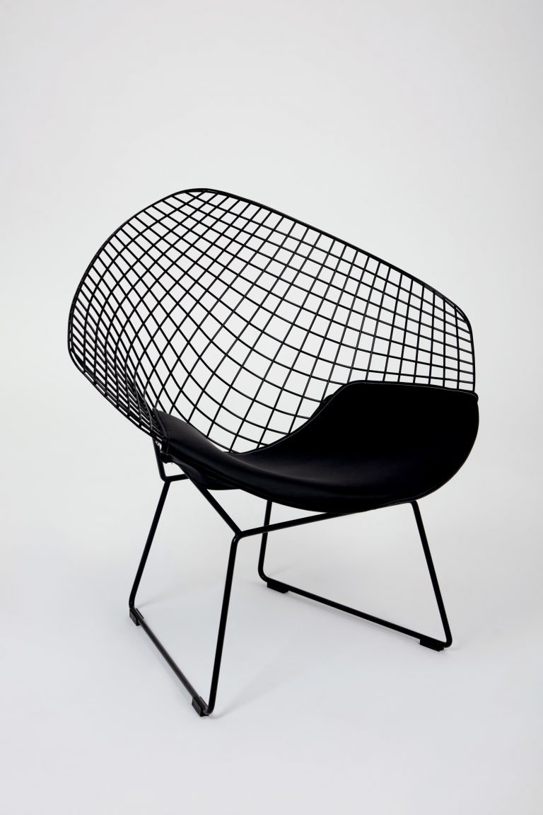 Tremendous Modern Chair Black Metal Wire Lounge Chair 2 Colours Creativecarmelina Interior Chair Design Creativecarmelinacom